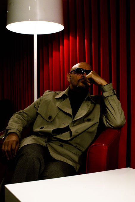 Here we see Barry Adamson hanging out inside the Red Room from Twin Peaks.
