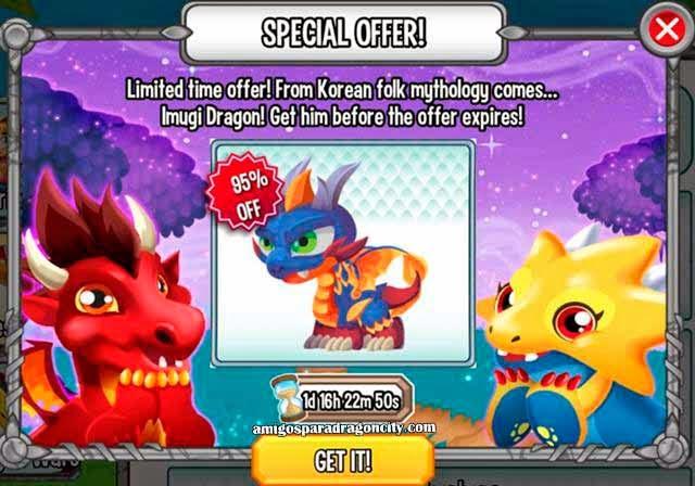 imagen del dragon joseon en dragon city ios y dragon city android