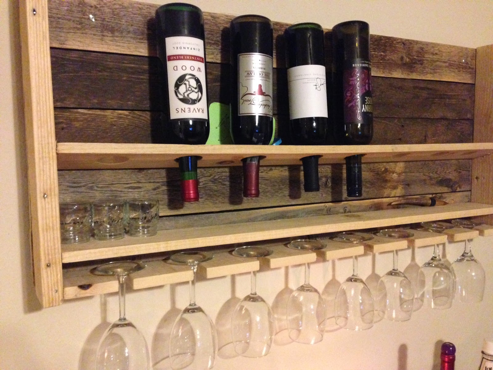 Pots Pans Paintbrushes Diy Pallet Wine Rack
