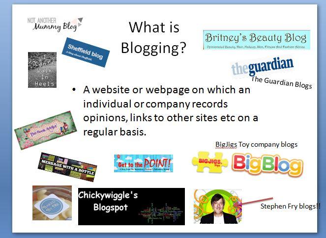 Blogging Presentation
