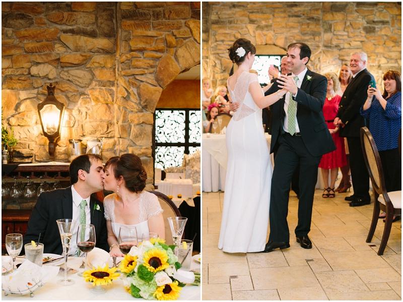 grandes Italian restaurant wedding reception