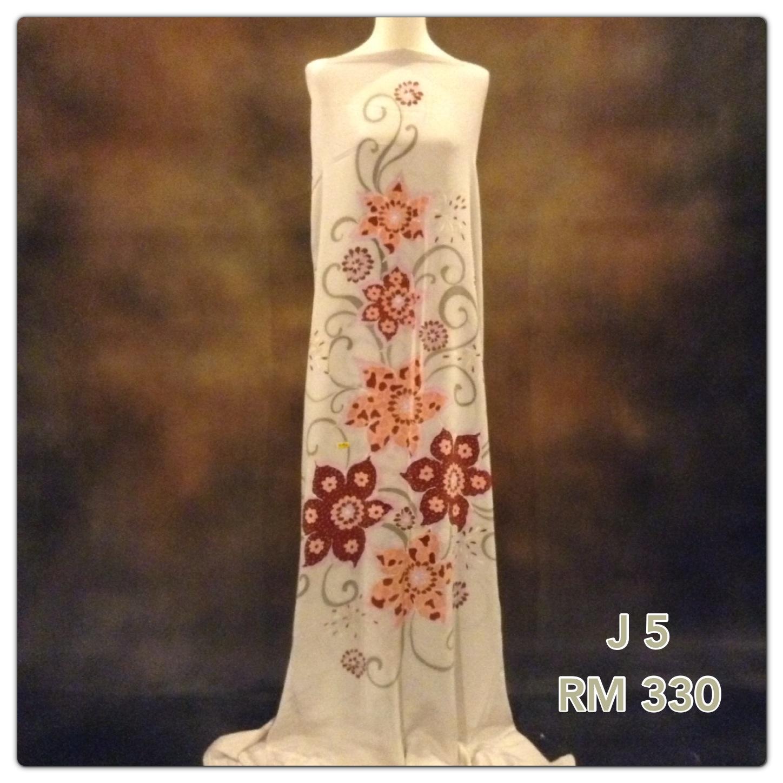 Cotton Siti Kain Jubah Batik Sutera Crepe Terengganu