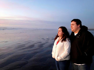 Gwen and Ryan at Ocean Shores - Posted by Patricia Stimac, Seattle Wedding Officiant