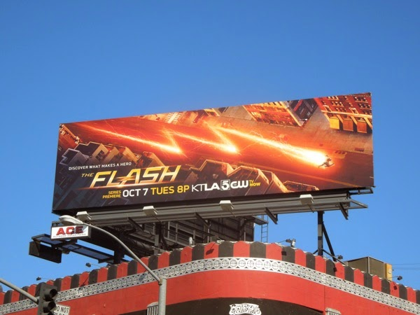 The Flash season 1 billboard