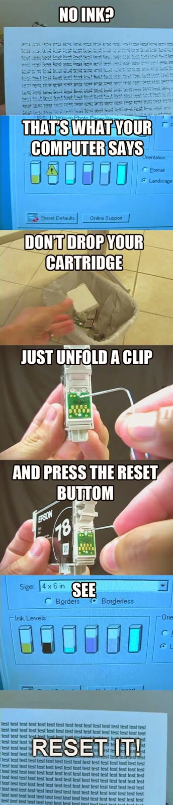 Reset your inkjet cartridge