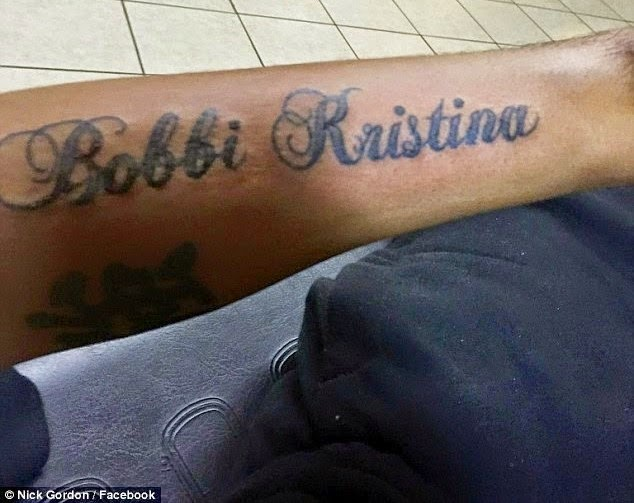 Bobbi Kristina Brown's 'Husband' proves his love with a tattoo of her name