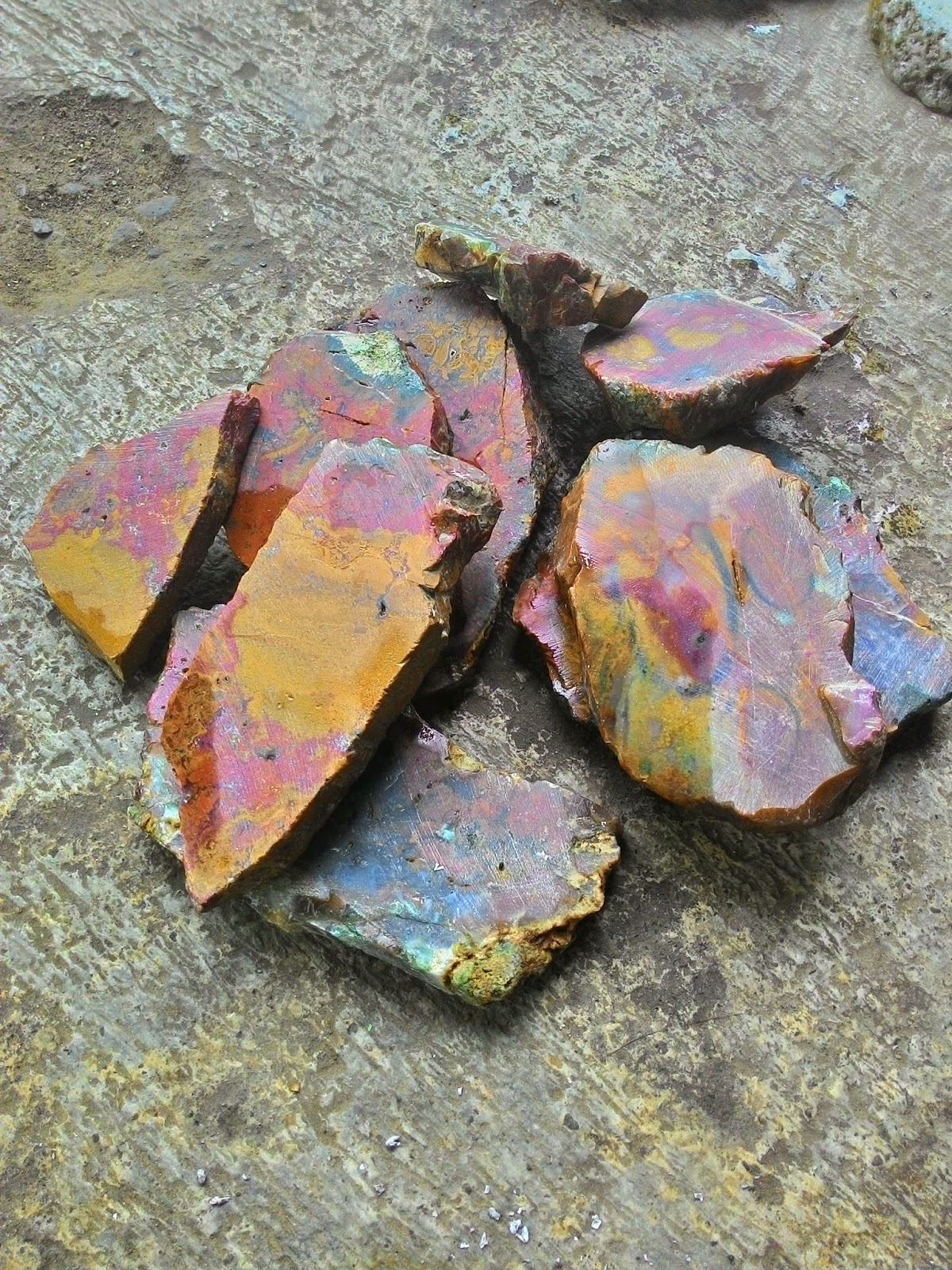 jual bahan batu akik panca warna super