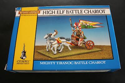 Portada de la caja del High Elf Tiranoc Chariot