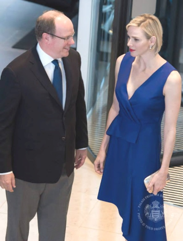 Princess Charlene And Prince Albert Attended A Meeting In Monte-Carlo