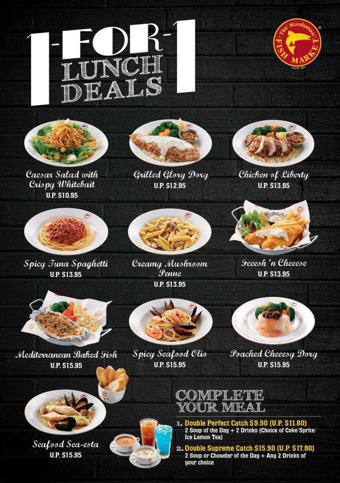 Foodiefc manhattan fish market 1 for 1 lunch deals till for Manhattan fish and chicken menu