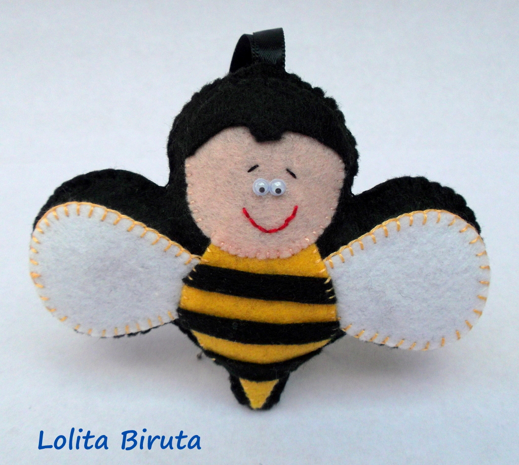 abelhinha em feltro