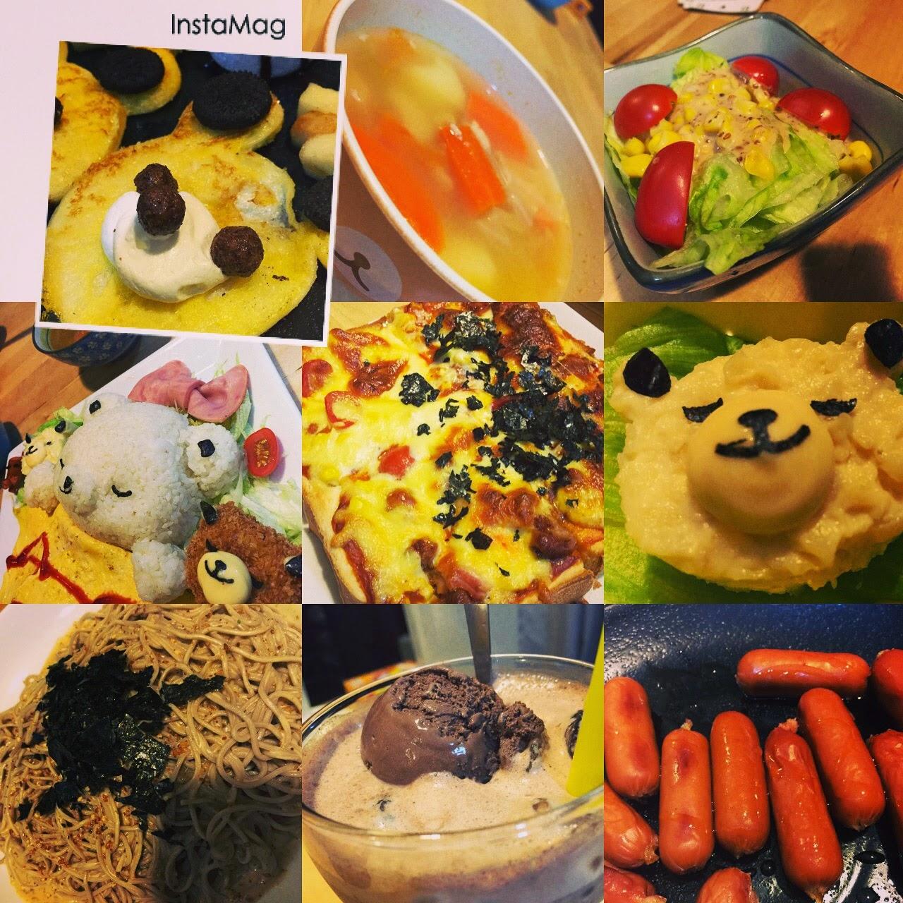 九龍 旺角 J-Point CAFE 全日點喫茶店 大人的兒童餐 甜睡的小熊家族 班戟配肉桂蘋果 冷麵 腸仔 朱古力飲品