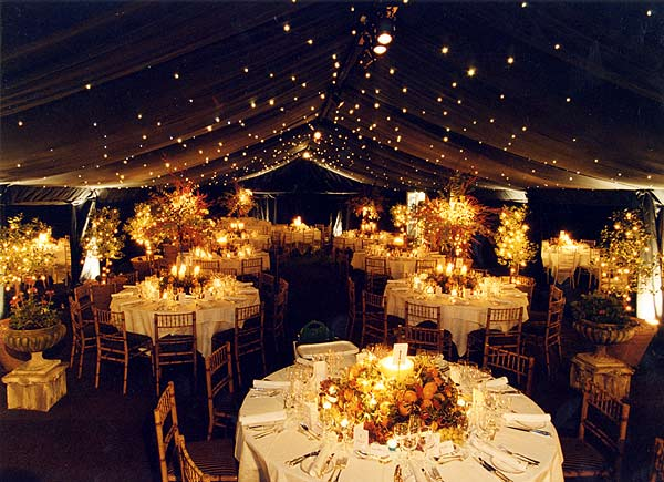 tent weddings decorations