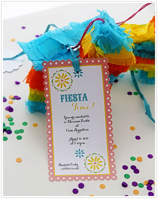 Mini Pinata Invitations