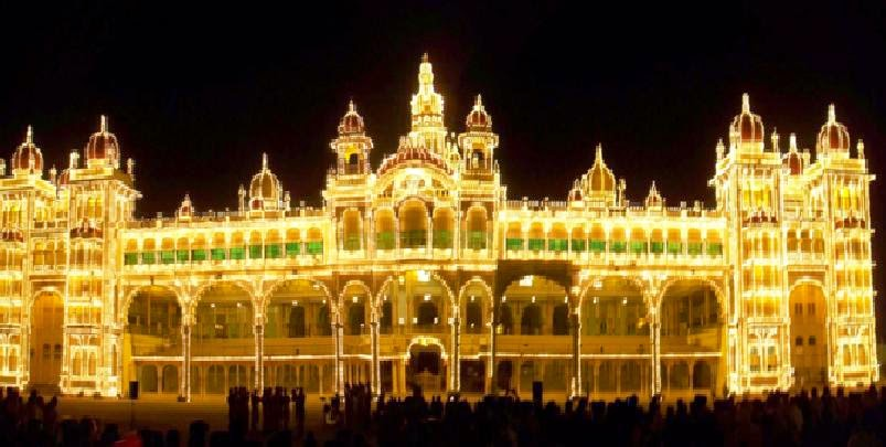 A beautiful Night view of Ambavilas Palace, Mysore