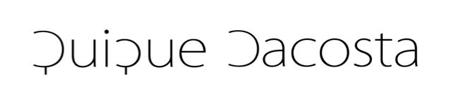 Quique Dacosta. blog