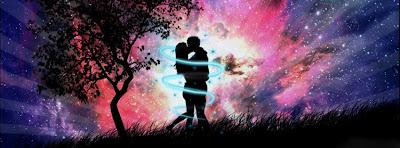 Capa facebook namorados com efeito neon