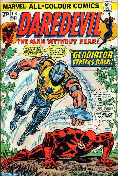 Daredevil and the Black Widow #113, the Gladiator