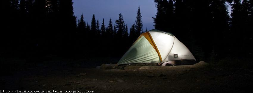Couverture facebook HD camping