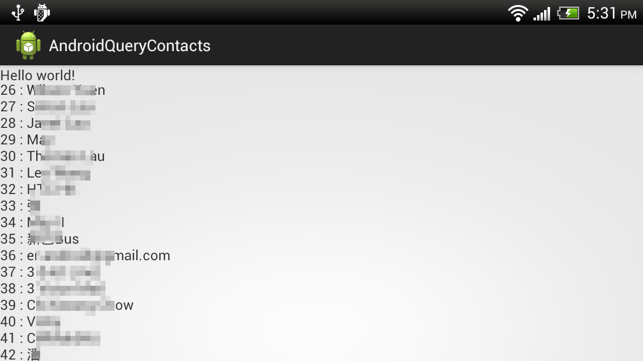 Android-er: Query Contacts database
