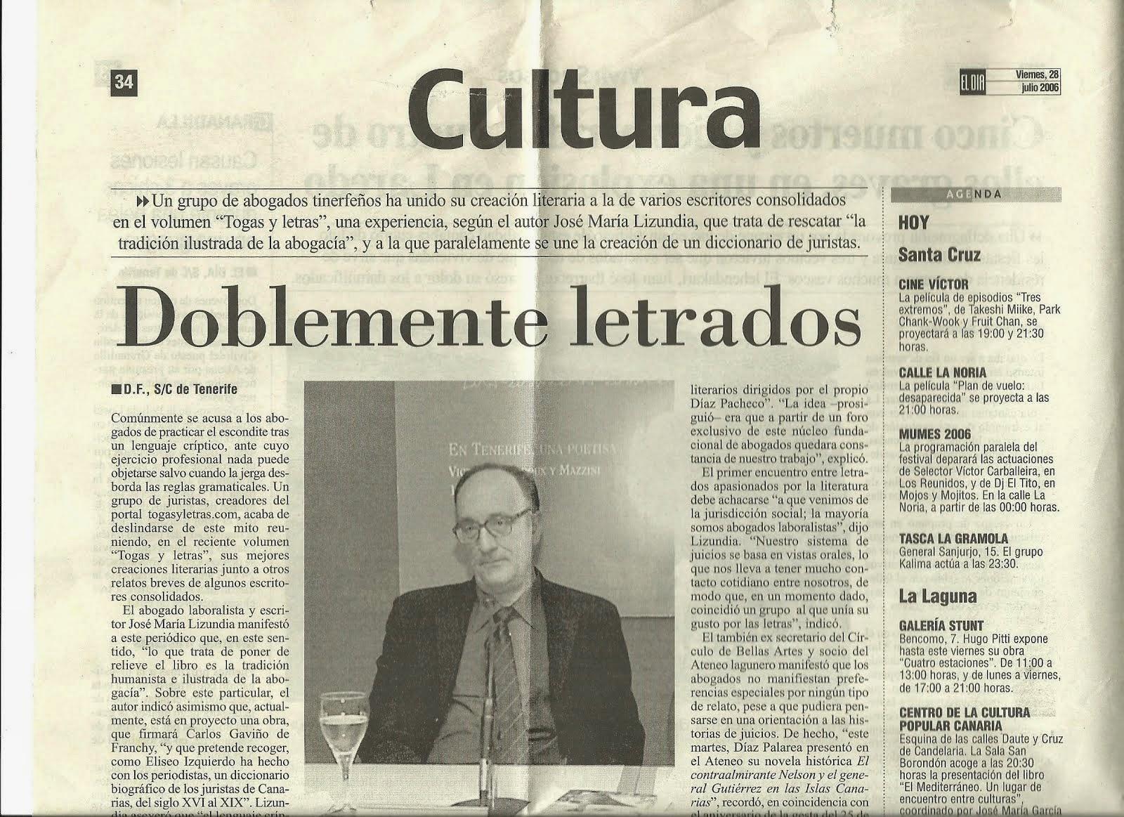 Presentación Togas & Letras
