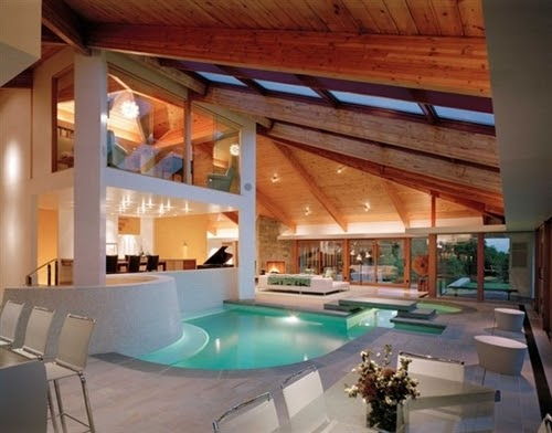 Tudo para minha casa maravilhosa resid ncia com piscina - Piscina interna casa ...