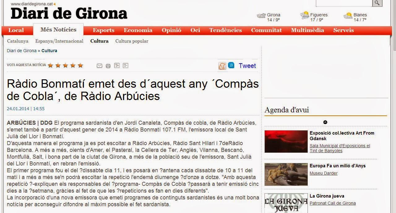 Article Diari de Girona 24-01-2014