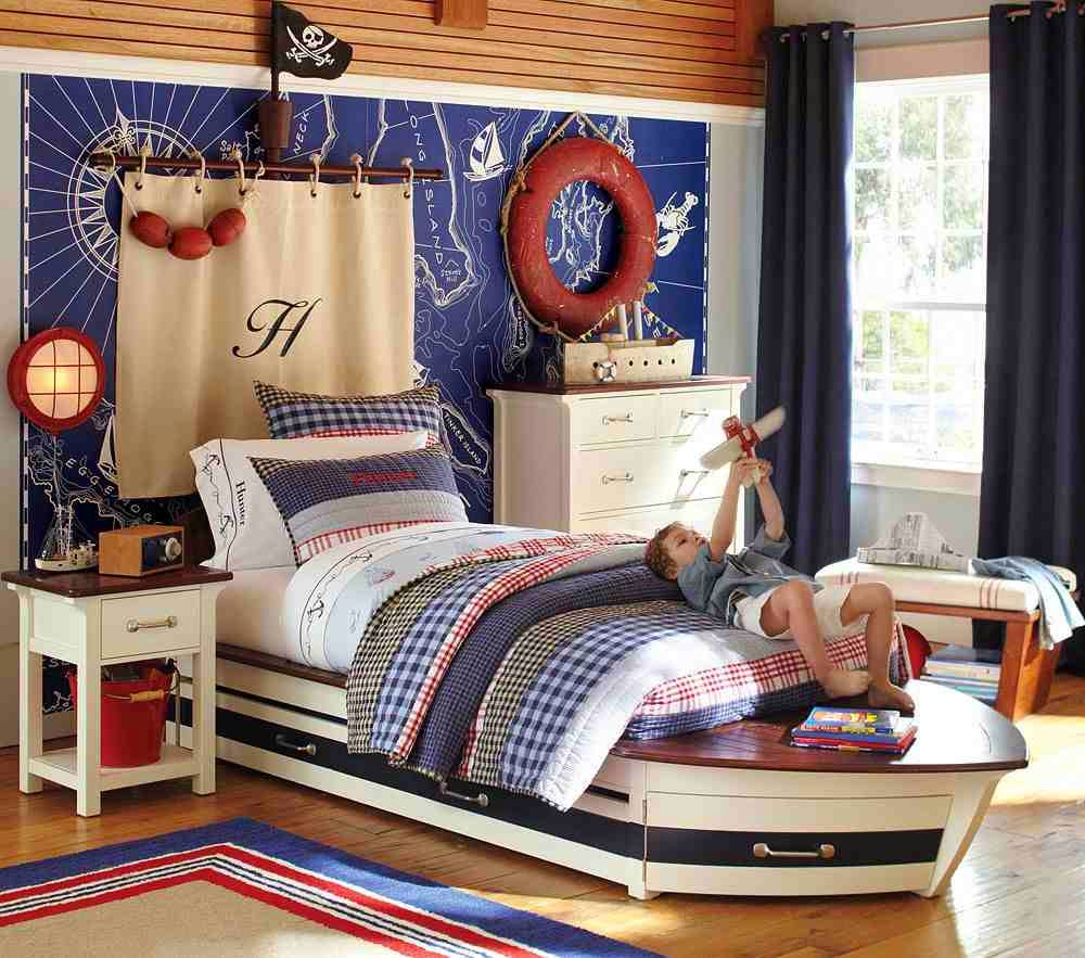 Nautical themed bedroom for boys - Home Decorating Interior Design Ideas