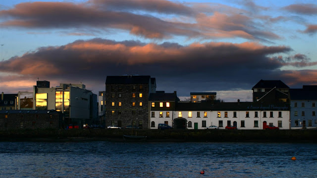 GALWAY CITY, Sunset , houses