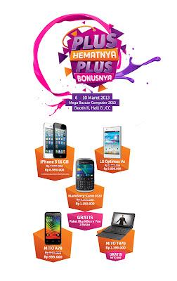 Promo iPhone, LG, BlackBerry dan Mito di Mega Bazaar Computer 2013
