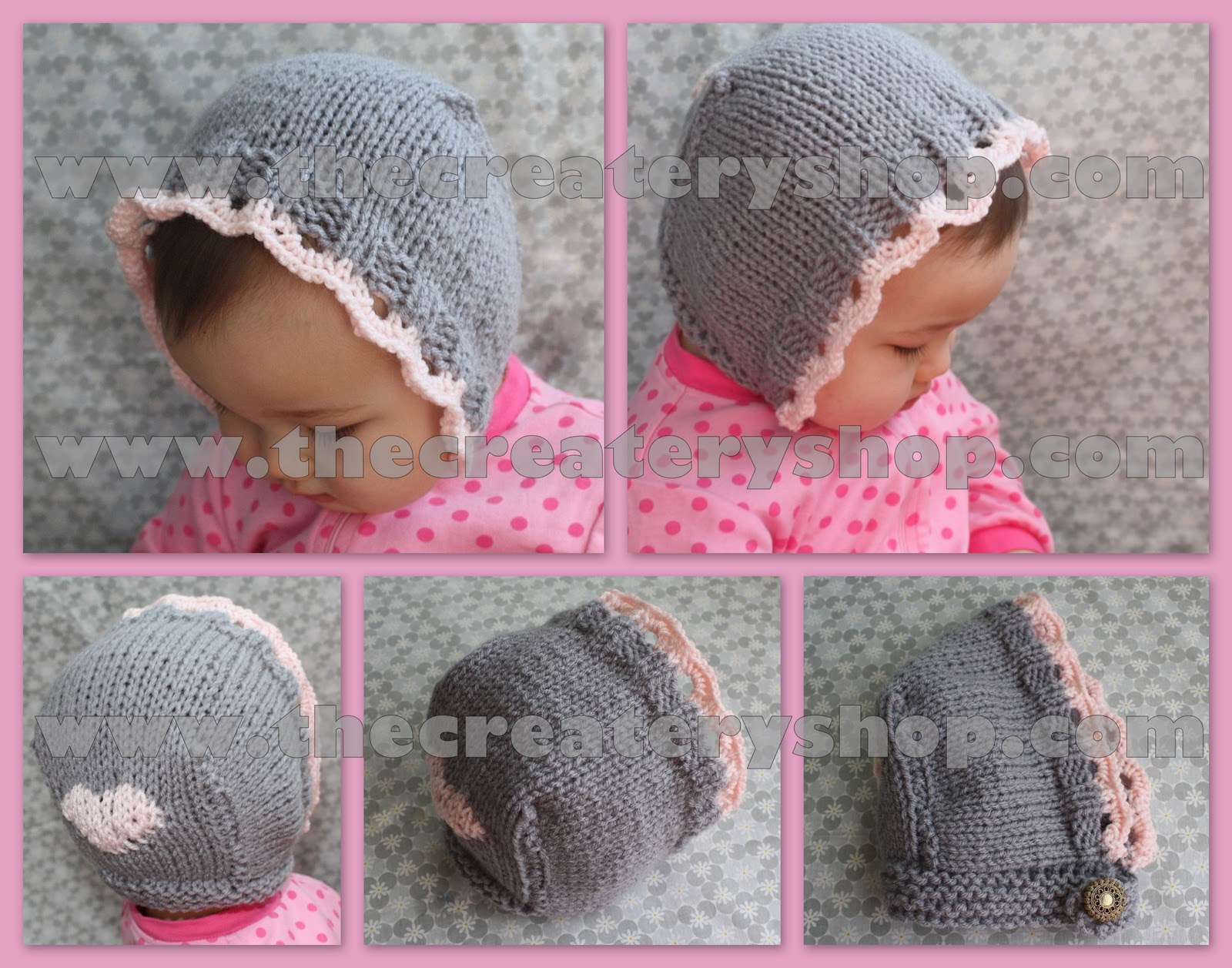 The createry shop sweet eyelet baby bonnet knitting pattern sweet eyelet baby bonnet knitting pattern bankloansurffo Image collections