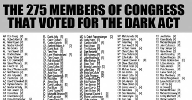 275 Congressman Voted for Dark Act