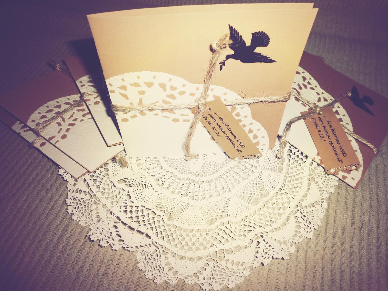 rusztikus esküvői meghívó