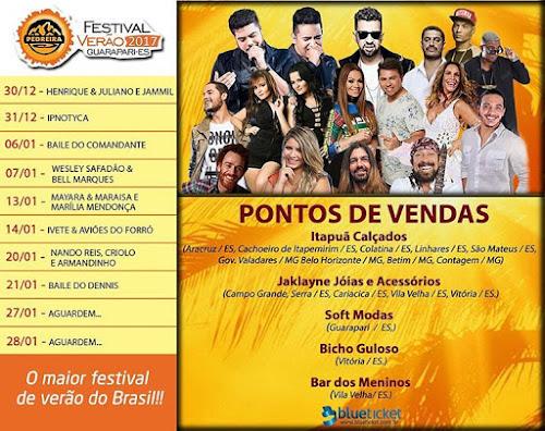 Festival de Verão Pedreira em Guarapari - ES em 2017