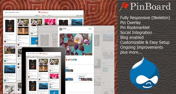 Download PinBoard - Drupal 7 Themesnap Template Free Download ...