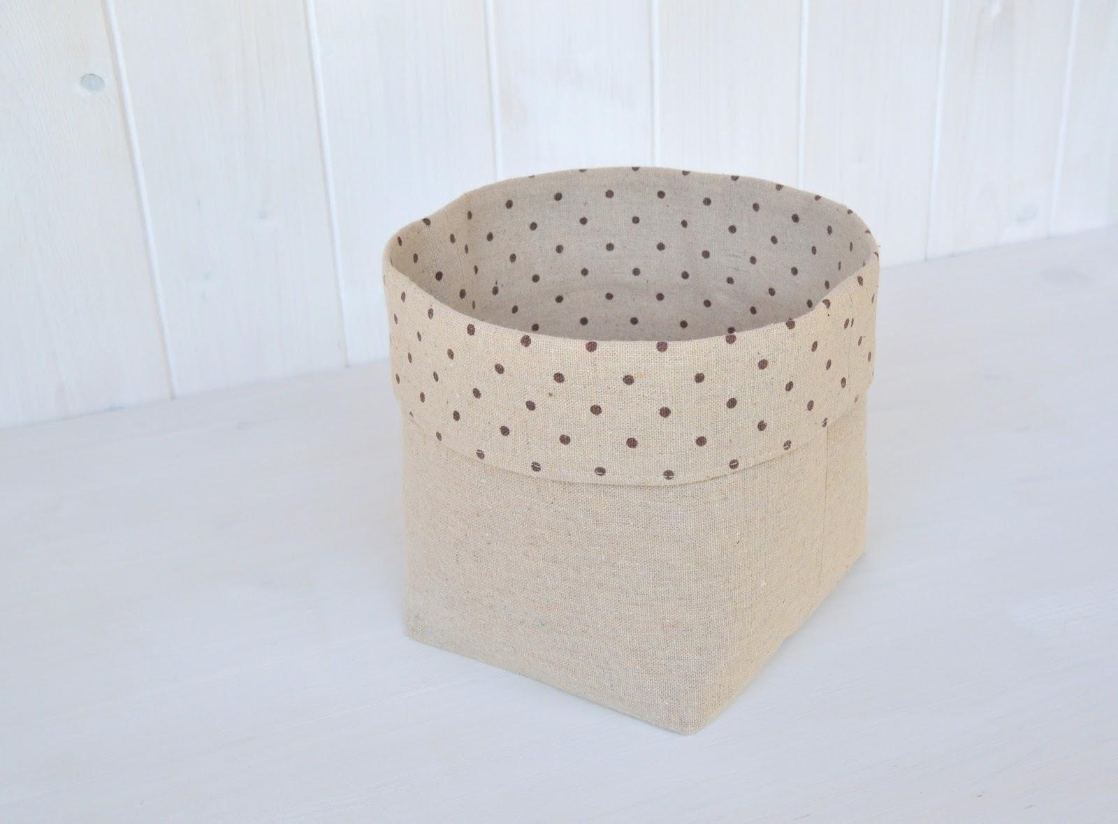 La soffitta dei ghiri cestini di stoffa fai da te - Porta per soffitta ...