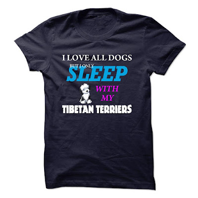 Love Sleep Tibetan Terriers T Shirts