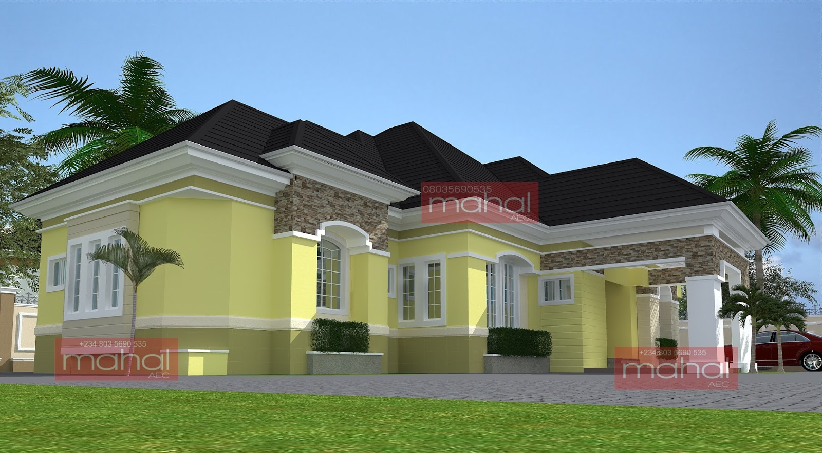 Contemporary nigerian residential architecture july 2013 for Nigerian home designs photos