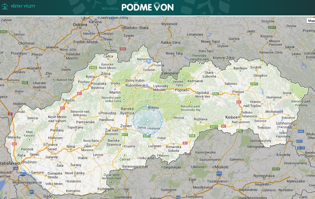 Interaktívna mapa hradísk