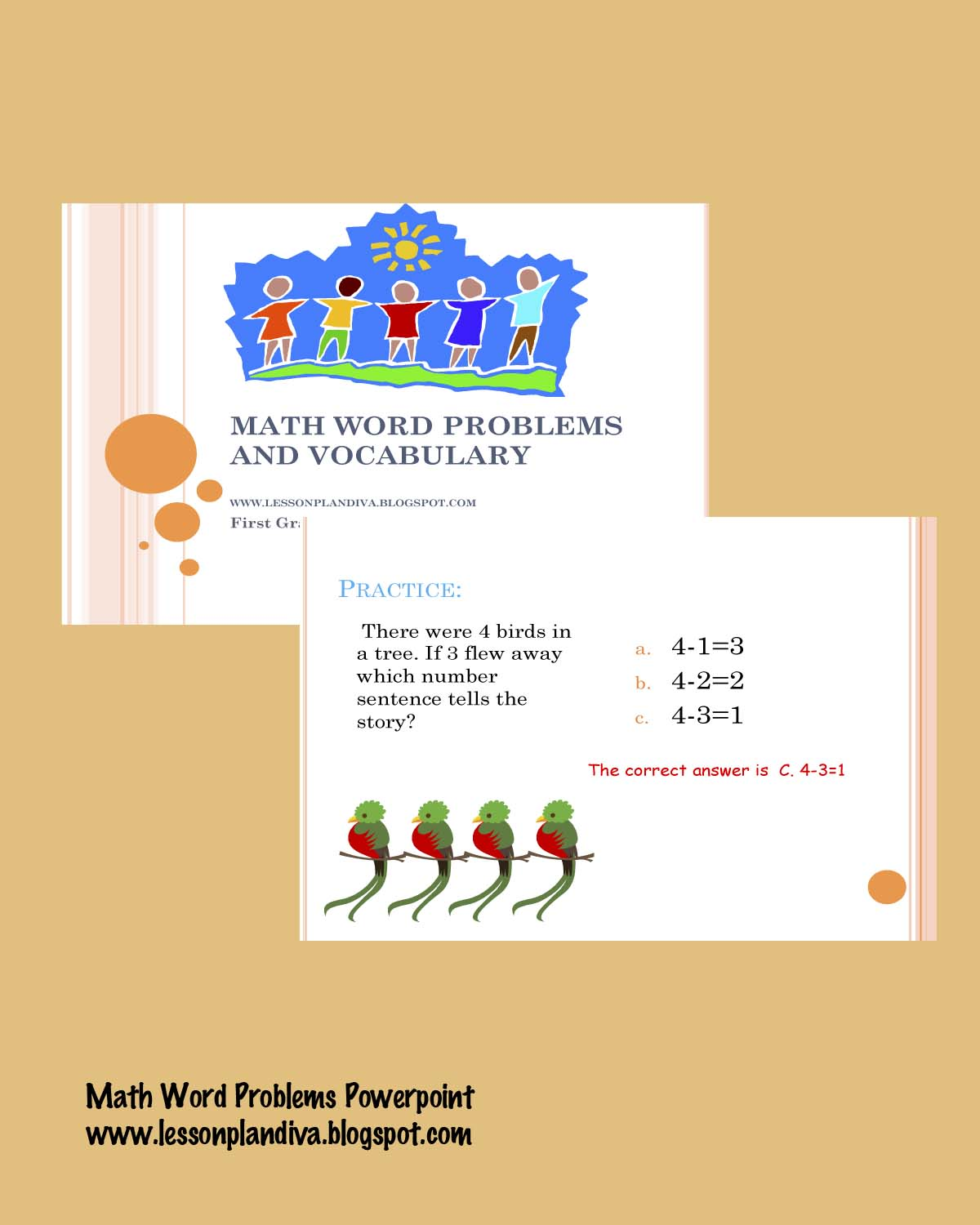 Word Problems Powerpoint - The Lesson Plan Diva