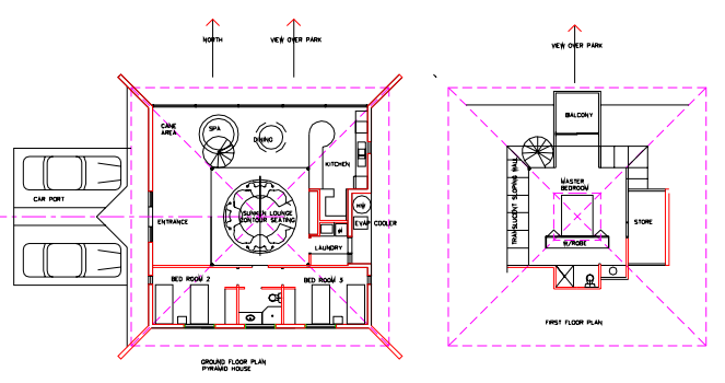 Cool pyramid house plans photos ideas house design for Pyramid home plans