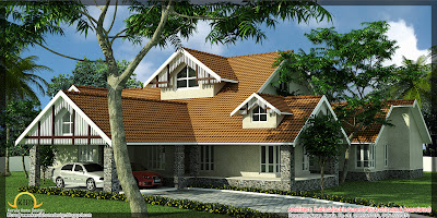 5500 Sq  Ft  House Elevation   Kerala home design and floor plans