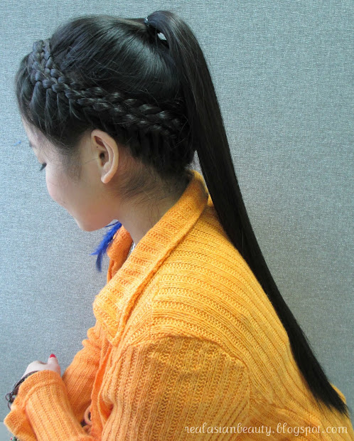 real asian beauty crown braid