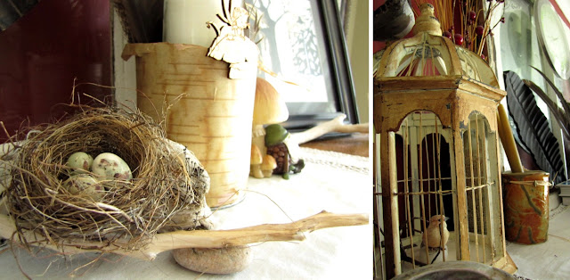 Needle and Nest Design: D.I.Y: fireplace & mantle decor