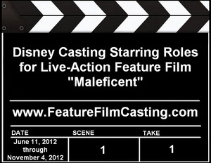 Disney Casting Maleficent Lead Roles
