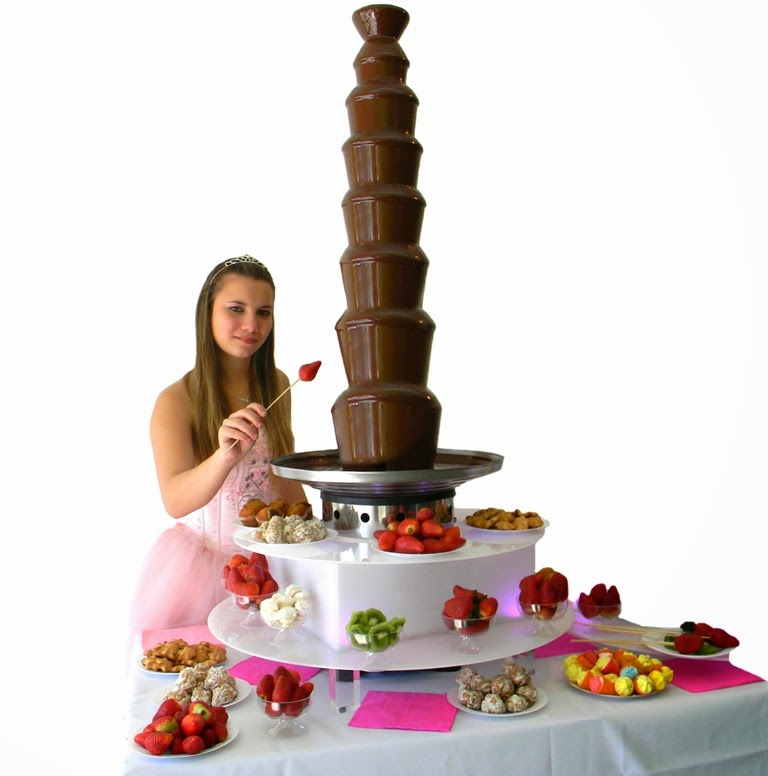 cascada de chocolate para alquilar