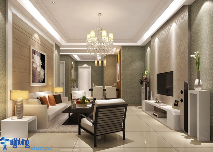 living room chandelier central element of lighting