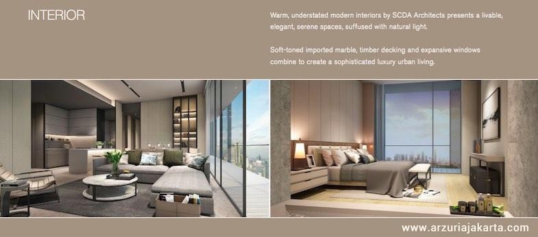 Unit apartemen arzuria jakarta selatan dijual for Interior design lasalle jakarta