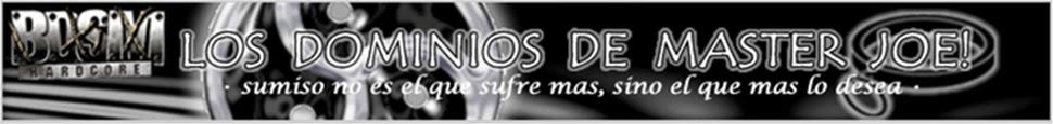 LOS DOMINIOS DE MASTER JOE!