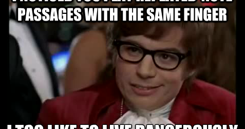 Meme of the Day: Austin Powers on Repeated Notes
